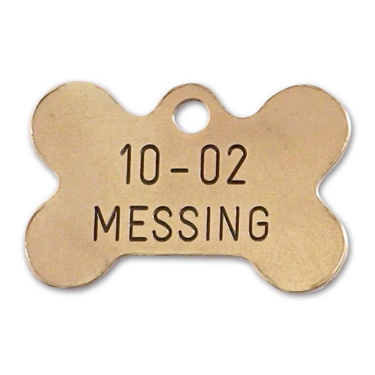 Hundetegn messing 30x20 mm