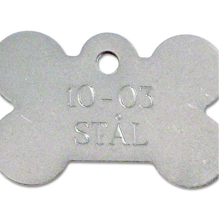 Hundetegn stål 37x25 mm