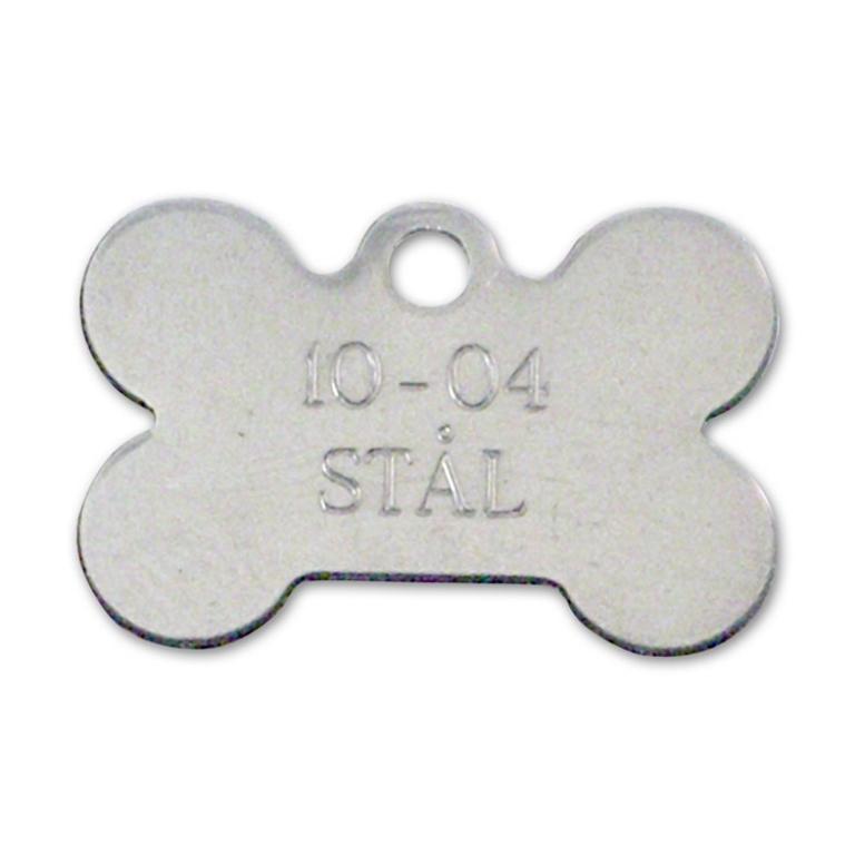 Hundetegn stål 28x19 mm