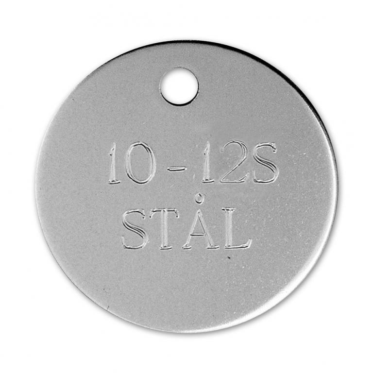 Hundetegn stål 33 mm